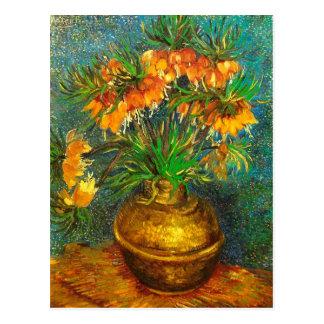 Fritillaries en una bella arte de cobre de Van Postales