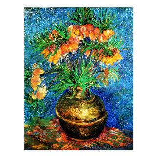 Fritillaries en una bella arte de cobre de Van Tarjetas Postales