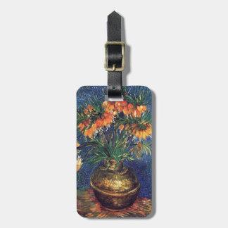 Fritillaries in a Copper Vase by Van Gogh Bag Tag