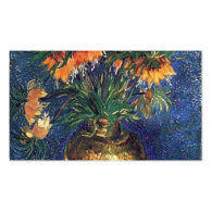 Fritillaries in a Copper Vase by Van Gogh. Business Card Template