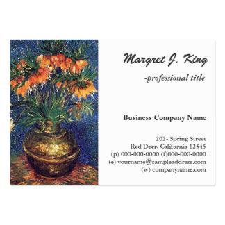Fritillaries in a Copper Vase by Van Gogh. Large Business Card