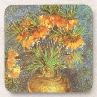 Fritillaries in a Copper Vase by Vincent van Gogh Beverage Coaster