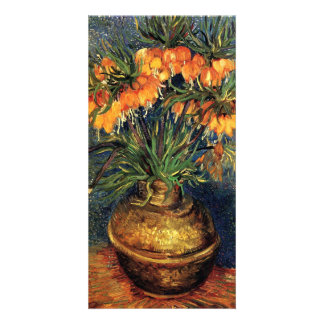 Fritillaries in a Copper Vase by Vincent van Gogh Card