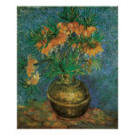 Fritillaries in a Copper Vase by Vincent van Gogh Poster