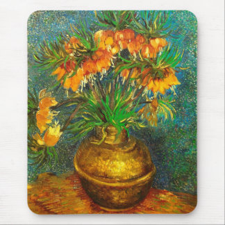Fritillaries in a Copper Vase Van Gogh Fine Art Mouse Pad