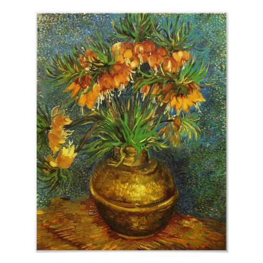 Fritillaries in a Copper Vase Van Gogh Fine Art Poster