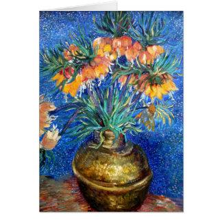 Fritillaries in Copper Bowl: Vincent Van Gogh Card