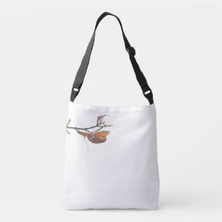 Fritillary Butterfly & Flower Blossom Floral Tote