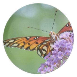 Fritillary Butterfly Flower Wildlife Floral Animal Melamine Plate