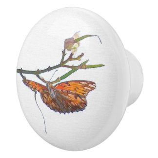 Fritillary Butterfly Flowers Floral Blossom Knob