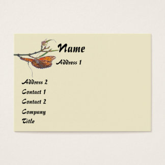 Fritillary Butterfly Flowers Floral Wildlife Business Card