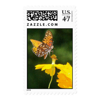 Fritillary Butterfly Flowers Floral Wildlife Postage