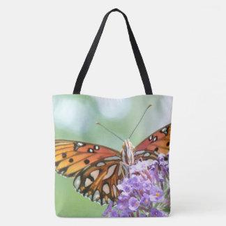 Fritillary Butterfly Garden Flowers Floral Bag