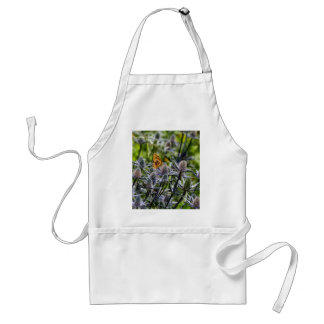 Fritillary Butterfly On Blue Thistle Adult Apron