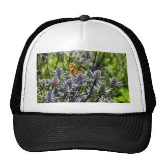 Fritillary Butterfly On Blue Thistle Trucker Hat