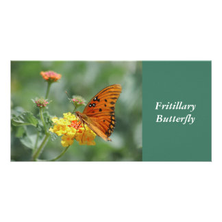 Fritillary Butterly Photo Card