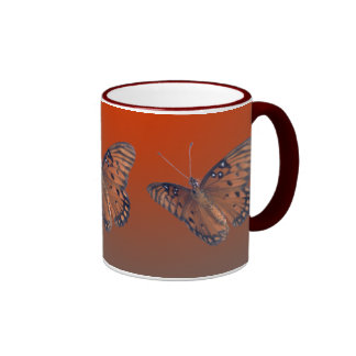 Fritillary del golfo taza de café