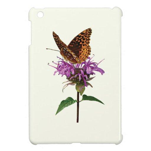 Fritillary on Lavender Bee Balm iPad Mini Cases