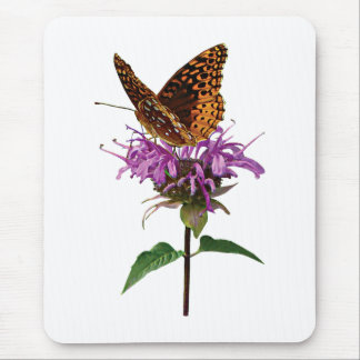 Fritillary on Lavender Bee Balm Mouse Pad