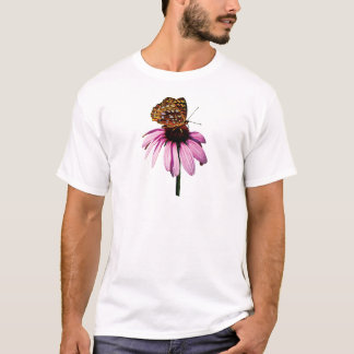 Fritillary on Purple Coneflower Mens T-Shirt