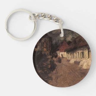 Frits Thaulow- Midnight Mass Key Chain