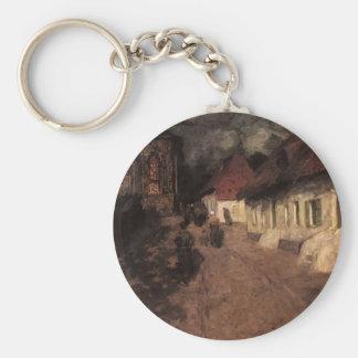 Frits Thaulow- Midnight Mass Keychains