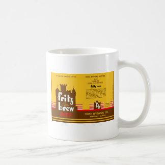 FRITZ BREW CONE TOP BEER CAN DESIGN FREEPORT ILL COFFEE MUG