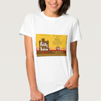 FRITZ BREW CONE TOP BEER CAN DESIGN FREEPORT ILL T-SHIRTS
