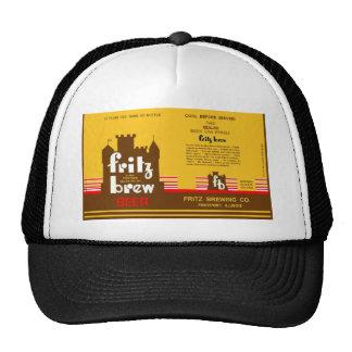 FRITZ BREW CONE TOP BEER CAN DESIGN FREEPORT ILL TRUCKER HAT