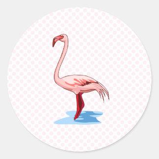 Fritz Flamingo Classic Round Sticker