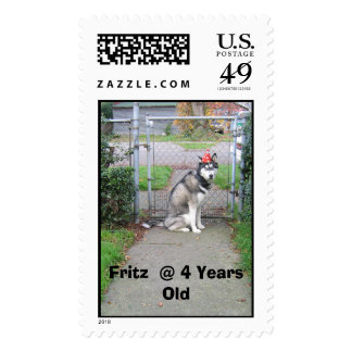 FRITZ, Fritz  @ 4 Years Old Stamp