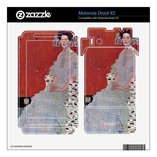 Fritza Reidler Klimt by Gustav Klimt Motorola Droid X2 Decals