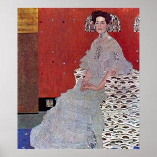 Fritza Reidler Klimt by Gustav Klimt Poster