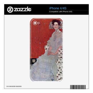 Fritza Reidler Klimt by Gustav Klimt Skin For The iPhone 4S