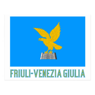 Friuli-Venezia Giulia flag with name Postcard