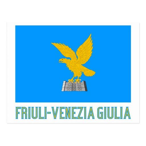 Friuli venezia giulia flag with name postcard zazzle for Progettazione giardini friuli venezia giulia