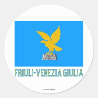 Friuli-Venezia Giulia flag with name Stickers
