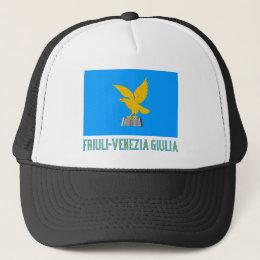 Friuli-Venezia Giulia flag with name Trucker Hat