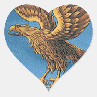 Friuli-Venezia Giulia (Italy) Coat of Arms Heart Sticker