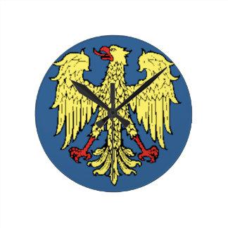 Friuli-Venezia Giulia (Italy) Flag Round Clock