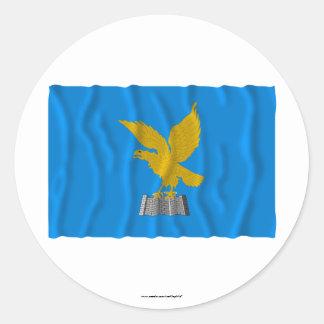 Friuli-Venezia Giulia waving flag Round Sticker