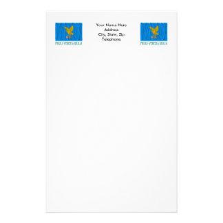 Friuli-Venezia Giulia waving flag with name Stationery Paper