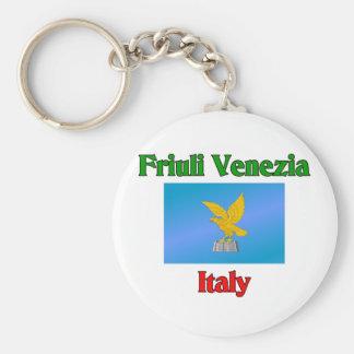 Friuli Venezia Llavero Redondo Tipo Pin