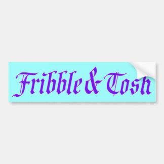 Frívolo y Tosh Pegatina Para Auto