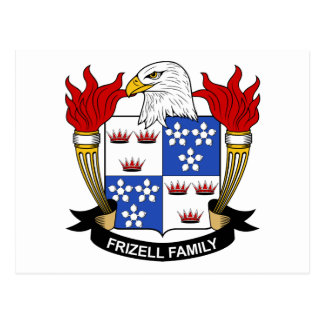 Frizell Family Crest Postcard
