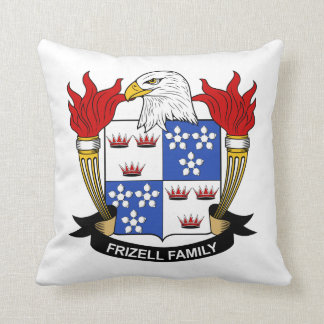 Frizell Family Crest Throw Pillow