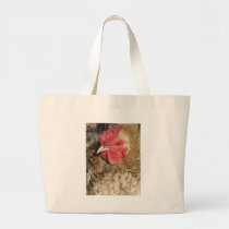 Frizzle Rooster Large Tote Bag