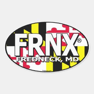 FRNX Maryland Flag Decal Oval Sticker