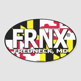 FRNX Maryland Flag Decal Oval Stickers
