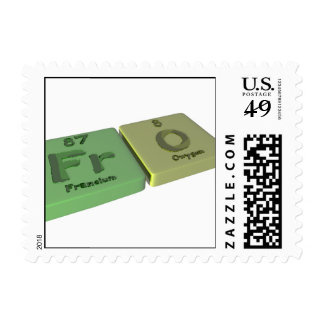 Fro as Fr Francium  and O Oxygen Stamp